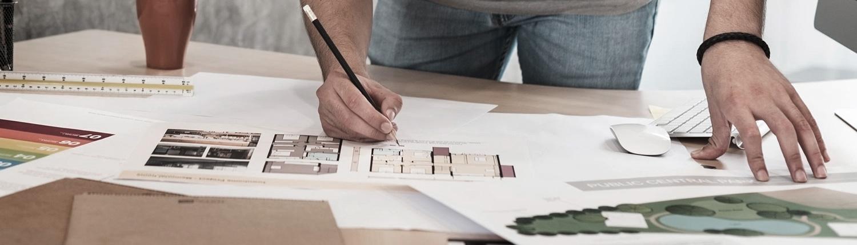 Grundriss Zeichnung farbig hochwertig gezeichnet