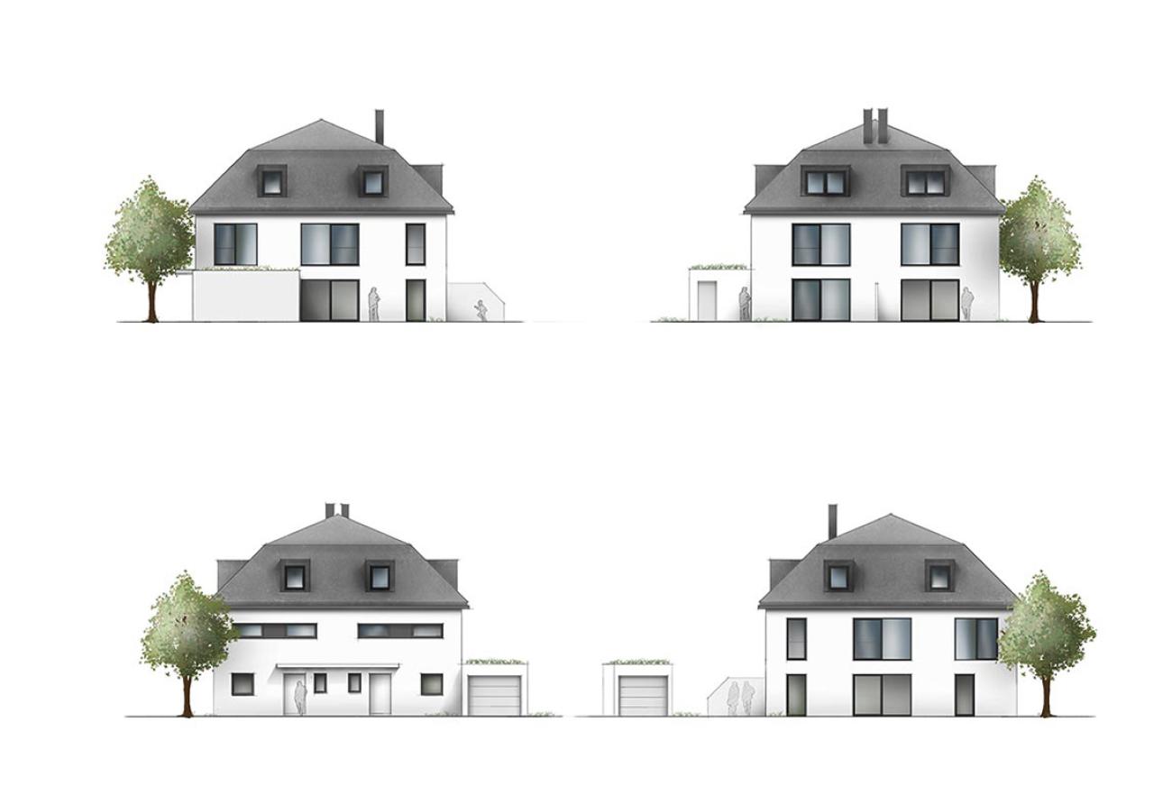 Ansicht Schnitt Grundriss Manufaktur Immobilien