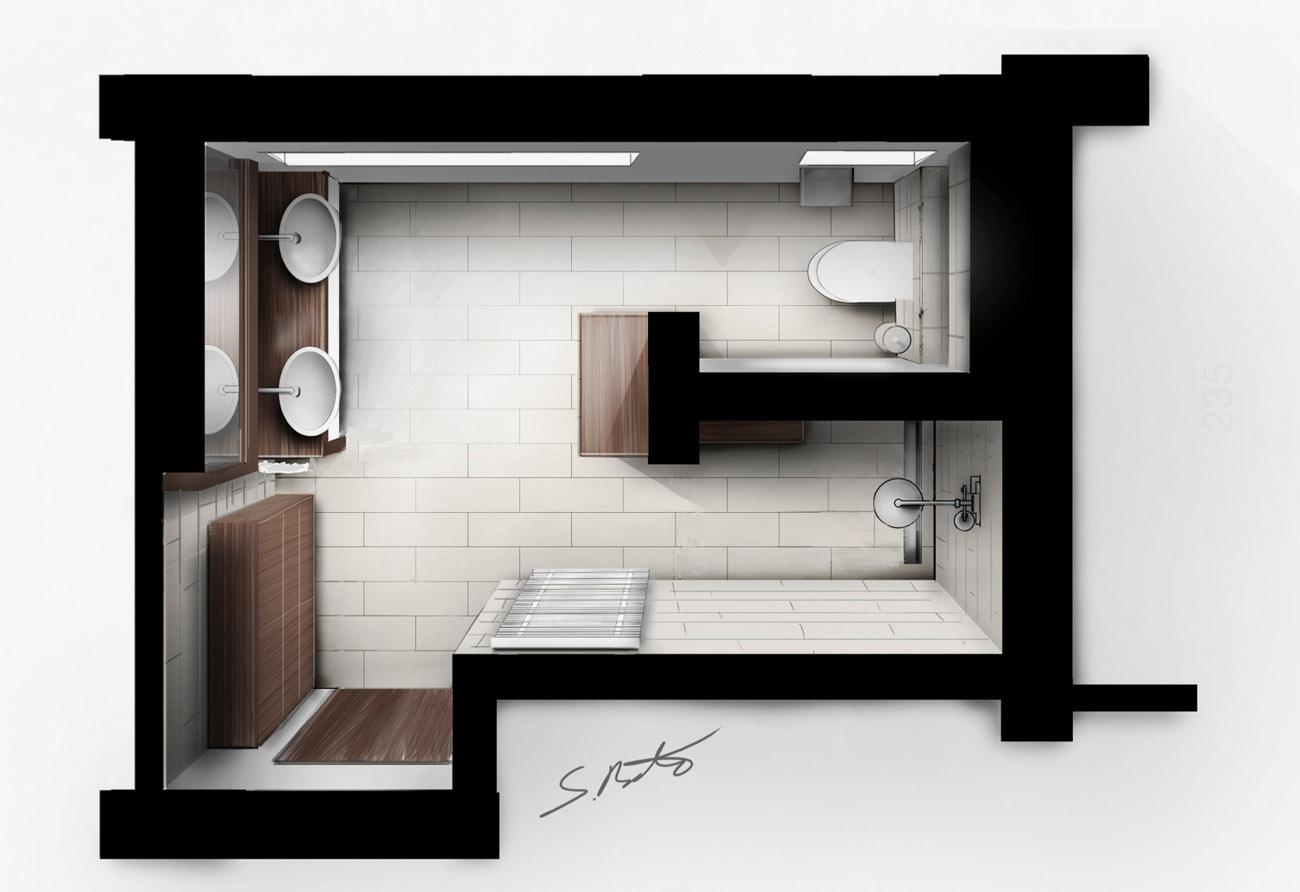 Skizze Immobiliengrundriss Wohnungsgrundriss Bauplan Baugrafik