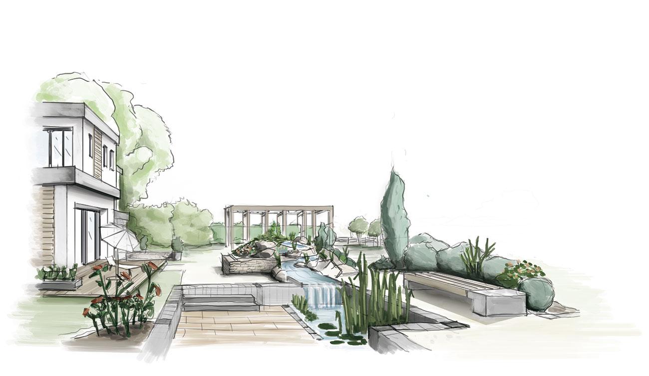 Kolorierte Perspektive Grundriss zeichnen lassen Grundriss-Manufaktur